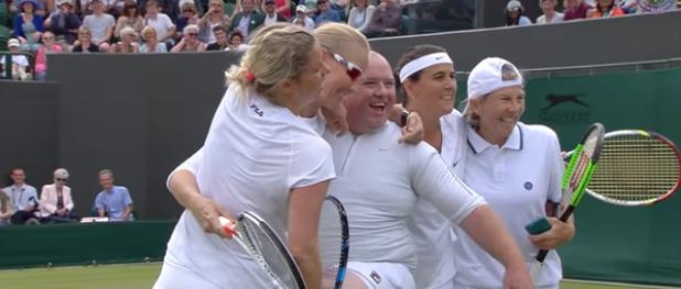 Wimbledon'da Kim Clijsters'ın güzel sürprizi (video)