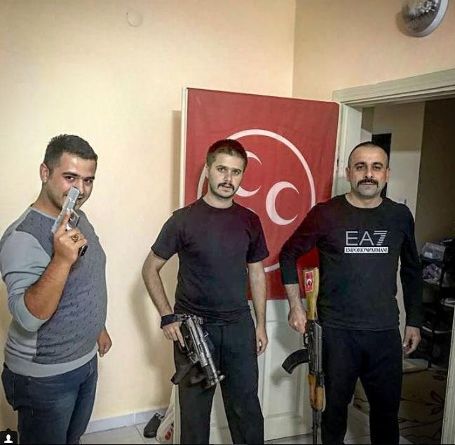 İstanbul Ülkü Ocakları Başkan Yardımcısı'ndan Kalaşnikof'lu paylaşım