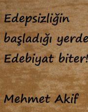 GÜNÜN SÖZÜ: Mehmet Akif